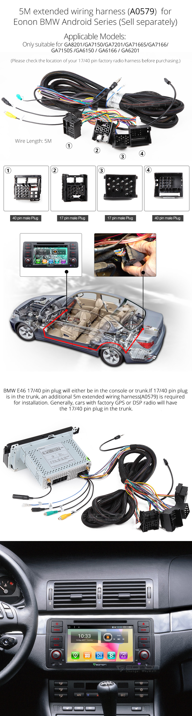 GA7150S 05 eonon ga7150s bmw android 6 0 2gb ram car dvd bmw e46 android eonon wiring harness at n-0.co