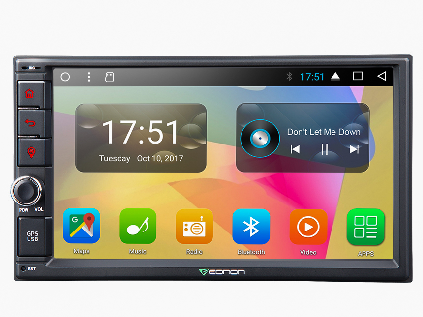 New Android 7.1 32GB-ROM Octa-Core Head Unit Support Bluetooth 1024x600 HD Screen Replacement Universal Navigation GPS Touchscreen Panel 7 Inch Radio Double Din Car Stereo