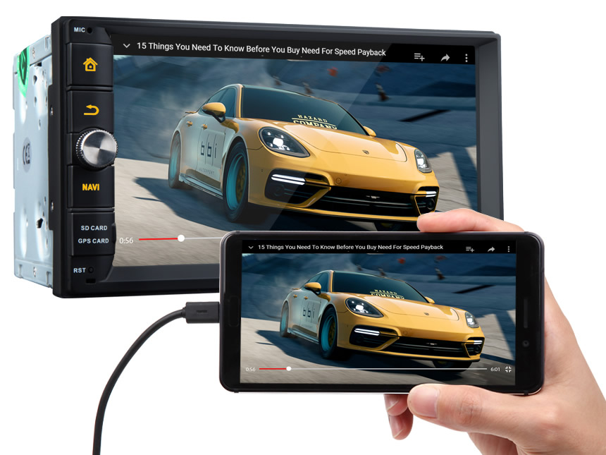 New Android 8.0 Oreo 4GB RAM Octa-Core Head Unit Support Bluetooth 1024x600 HD Screen Replacement Universal Navigation GPS Touchscreen Panel 7 Inch Radio Double Din Car Stereo