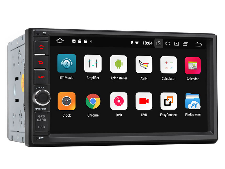 New Android 8.1 2GB-RAM Quad-Core Processor Head Unit Support Bluetooth 1024x600 HD Universal Navigation GPS Touchscreen Panel 7 Inch Radio Double Din Car Stereo