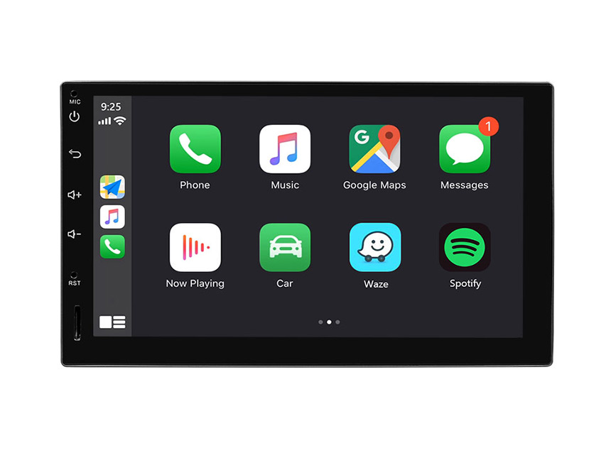 Eonon Universal Android 10 Double Din Car GPS Navigation 7 Inch IPS HD Full Touchscreen Car Stereo with Built-in Apple Car Auto Play DSP Split Screen Multitasking Bluetooth Car Head Unit