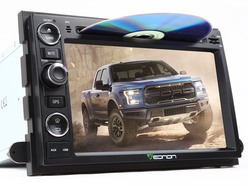 Ford F150 Android 6.0 7 Inch Capacitive Touchscreen Multimedia Car DVD GPS Navigation System Car Rearview Mirror Built in Car GPS WIFI Car Radio Bluetooth Truck Stereo Support Backup Camera