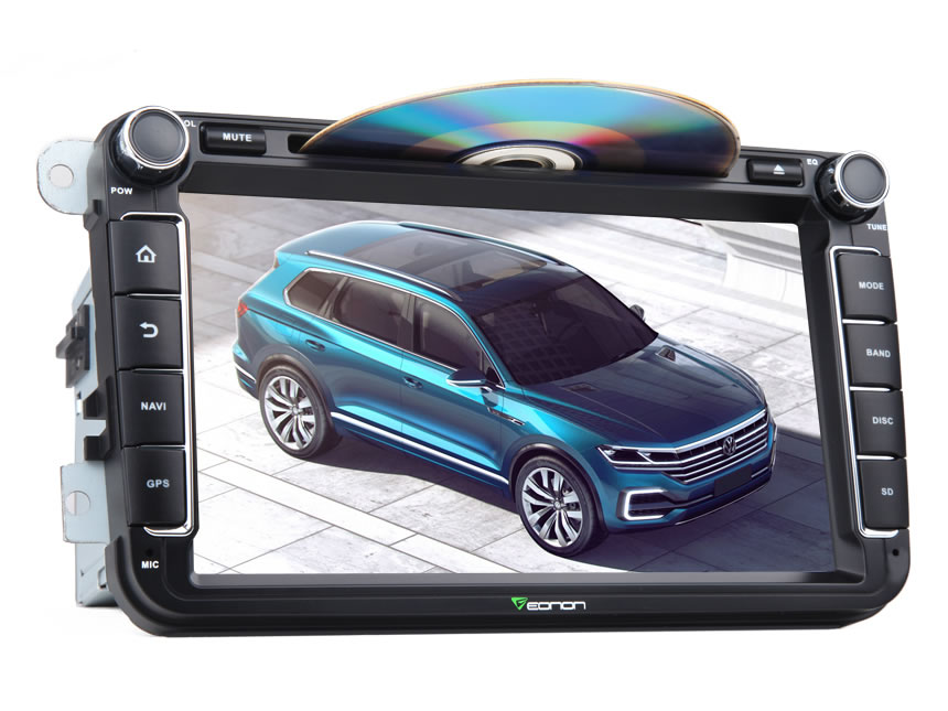 "Volkswagen(VW)/SEAT/SKODA 8"" HD Android 7.1 Car Audio 2GB-RAM Octa-Core Capacitive Digital Multi Touchscreen GPS Navigation System Built-in Bluetooth Compatible With Fender System HDMI Output and Split Screen"