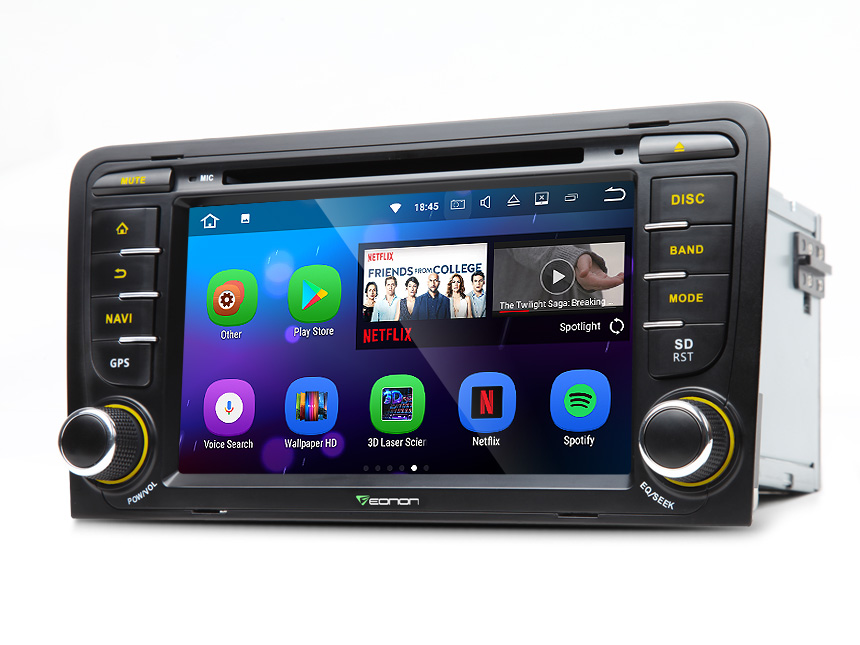 Audi A3/S3 Android 7.1 Nougat System Double Din Car In Dash Radio 2GB RAM Multimedia Car DVD CD Player WIFI 4G DAB+ Bluetooth Receiver 7 Inch Touchscreen Car Stereo with Split Screen Multitasking and HDMI Output