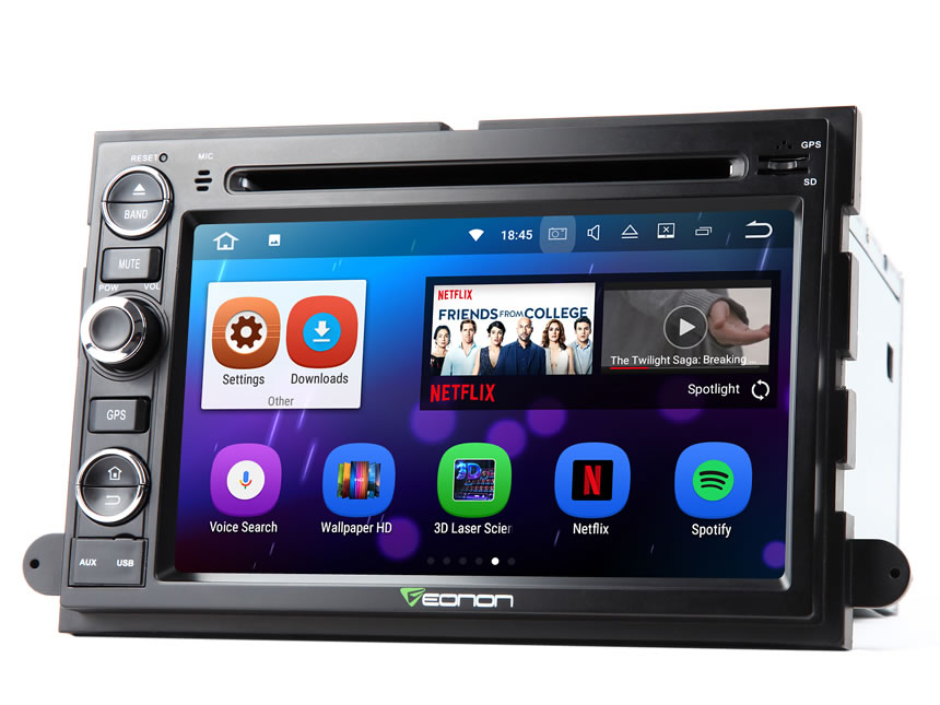 Ford F150 Android 7.1 Quad Core Car Stereo 7 Inch HD Digital Touchscreen DVD Player Quad-core Double Din Car GPS Navigation System Bluetooth 4.0 In Dash 2GB RAM Head Unit With Split Screen Multitasking