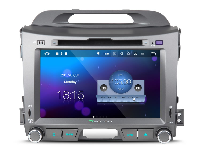 KIA Sportage Series 3 Android 7 1 In Dash Car Stereo GPS Navigation System With