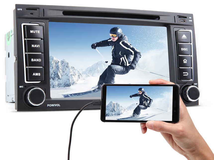 "Volkswagen(VW) Touareg/T5 Multivan/Transporter Android 7.1 Nougat System Multimedia Car GPS 7"" HD Digital Capacitive Touchscreen 16GB ROM Car Stereo Support External DAB+ OBD2 Dashcam"
