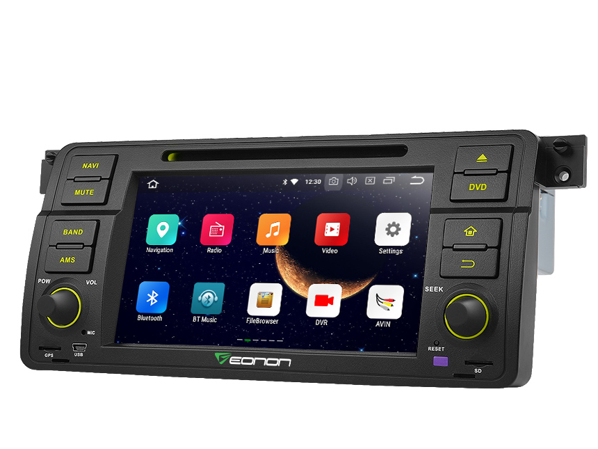 BMW E46 Android 8.0 Octa-Core 4GB RAM Car Radio GPS Navigation System 7 Inch 1 Din Multimedia Car DVD CD Player For Support Bluetooth WiFi Connection 4G Dongle Split Screen Steering Wheel Control