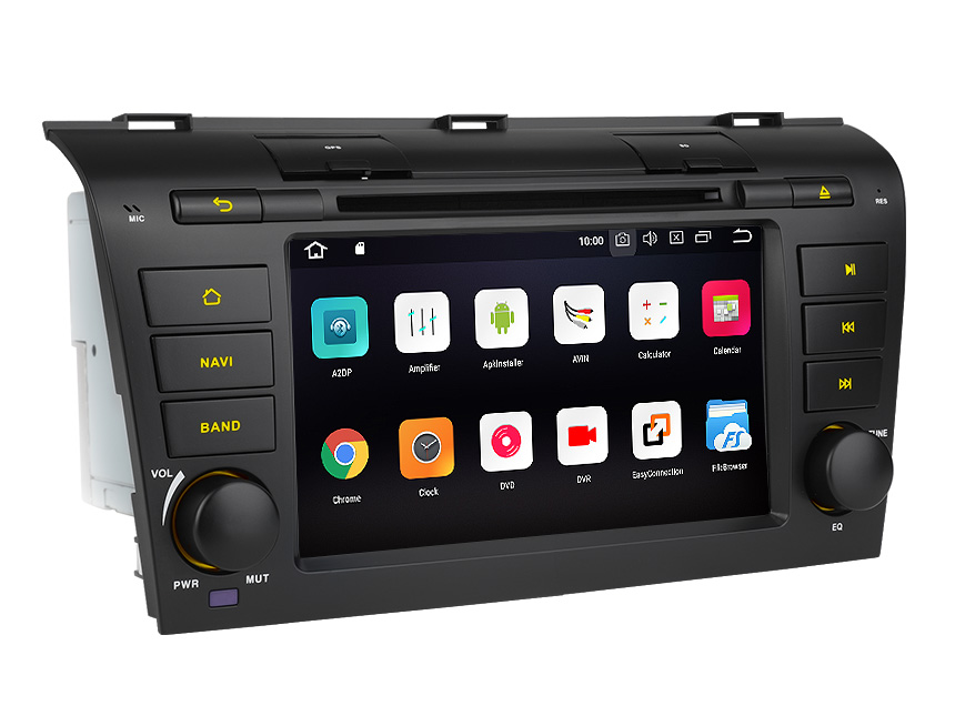 Designed for Mazda 3 (2004-2009) Android 8.0 Oreo 4G RAM, Octa-Core & 32G ROM Split Screen and PIP Multitasking Compatible With Bose System 7 Inch Touchscreen Car DVD CD Receiver