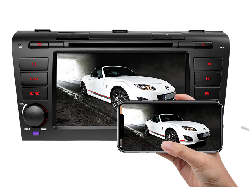 Mazda 3 (2004-2009) Android 8.0 Oreo 4G RAM, Octa-Core & 32G ROM Split Screen and PIP Multitasking Compatible With Bose System 7 Inch Touchscreen Car DVD CD Receiver