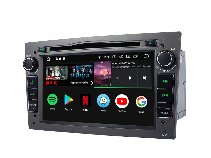 Opel/Vauxhall/Holden Android 8.0 Oreo 4G RAM, Octa-core & 32G ROM Split Screen and PIP Multitasking 7 Inch Double Din Touch Screen Car DVD Player Car GPS Navigation Dark Grey Version
