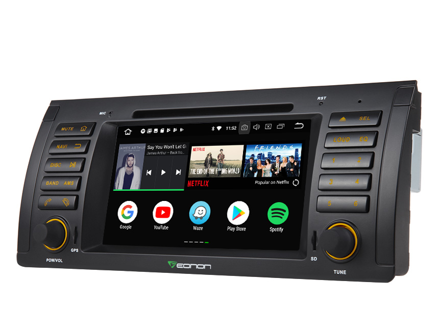 "BMW E53 1999-2005 Android 8.0 Oreo Octa-core 4G RAM& 32G ROM Car DVD CD Player 7"" HD Touchscreen Multimedia In Dash Car Head Unit Built-in Bluetooth Radio Receiver with Split Screen Multitasking GPS Navigation System"