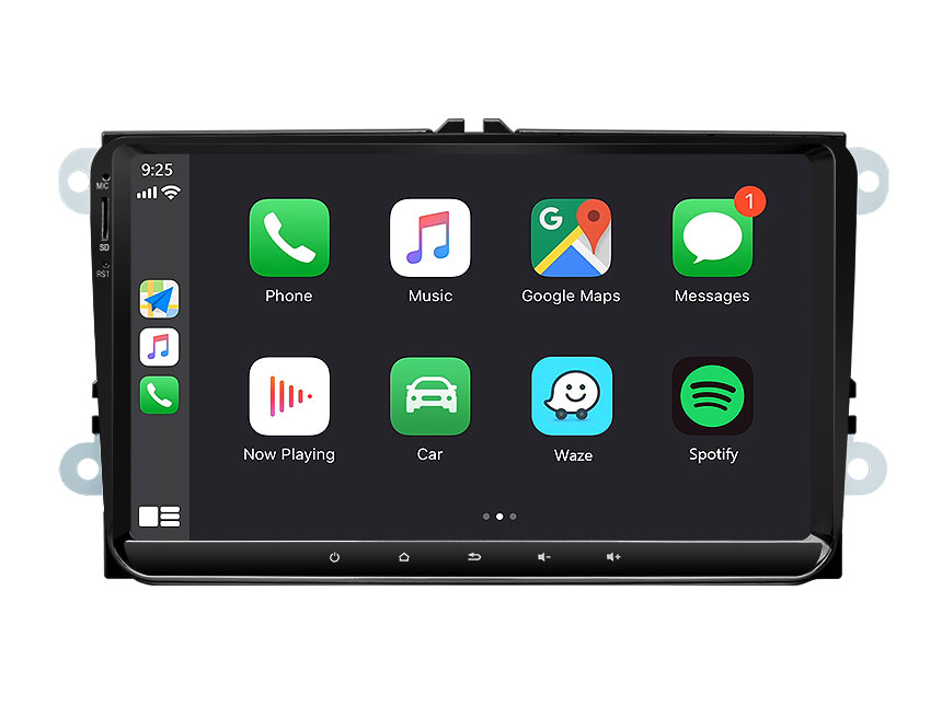 Eonon Volkswagen/SEAT/SKODA Android 10 Head Unit 9 Inch IPS Full Touchscreen Car GPS Navigation Radio with Built-in Apple Car Auto Play Built-in DSP